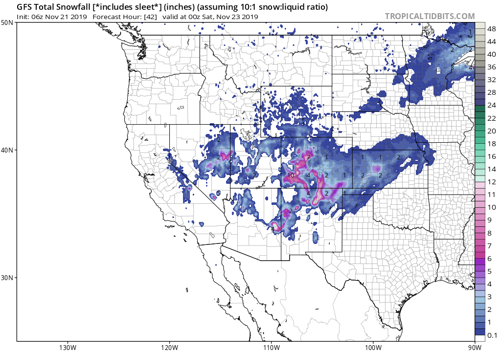 Feet Of Snow In The 7 Day Powder Forecast For The West