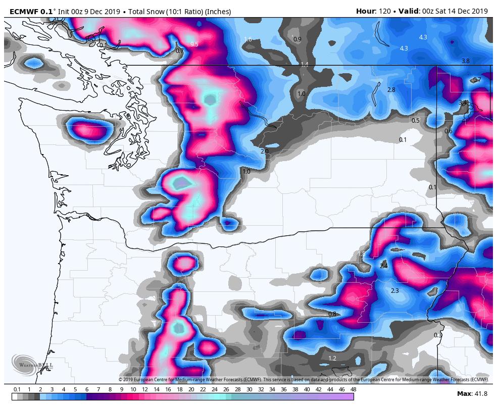 Cascades and Coastal BC Will Finally Get Big Snowfall