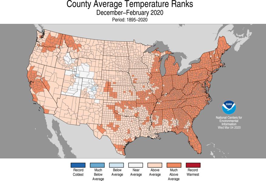 temperature ranks