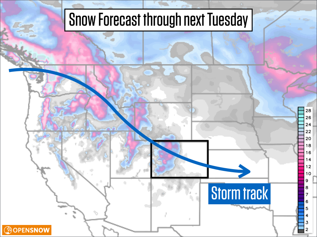 colorado snow forecast