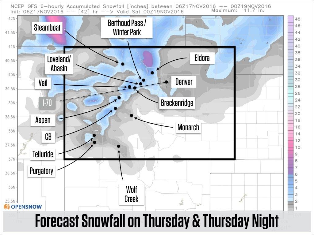Thursday is storm day | Colorado Daily Snow | Snow Forecast & Ski