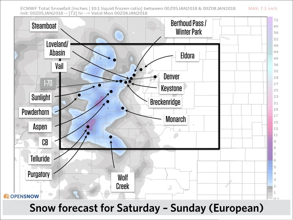 Powder coming Sunday, mid next week, and l    | Colorado