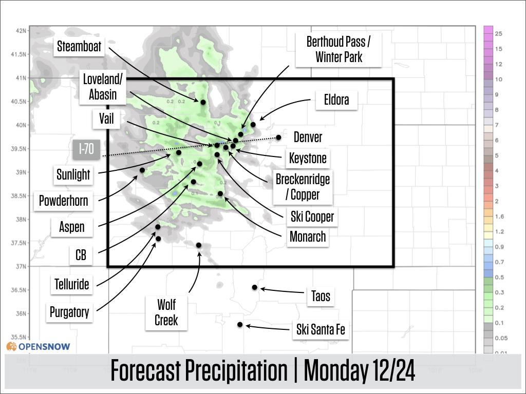 Snow through Monday, next storm on Wednesday | Colorado Daily Snow