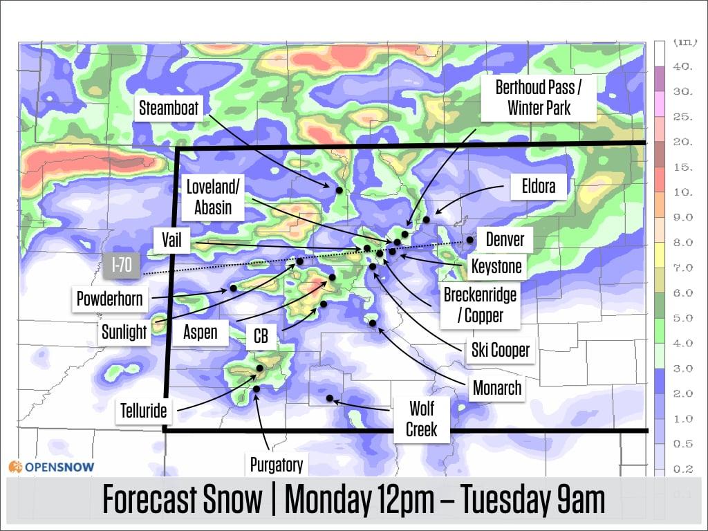 Colorado Daily Snow   Snow Forecast & Ski Report   OpenSnow