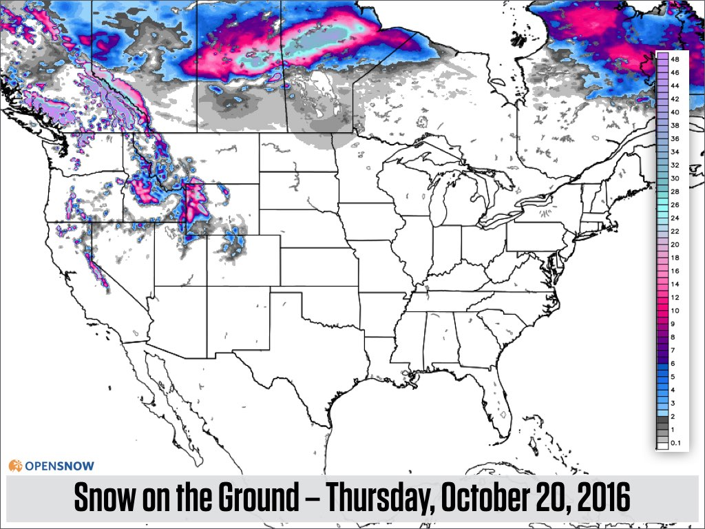 This Map Shows The Estimated Amount Of Snow On The Ground
