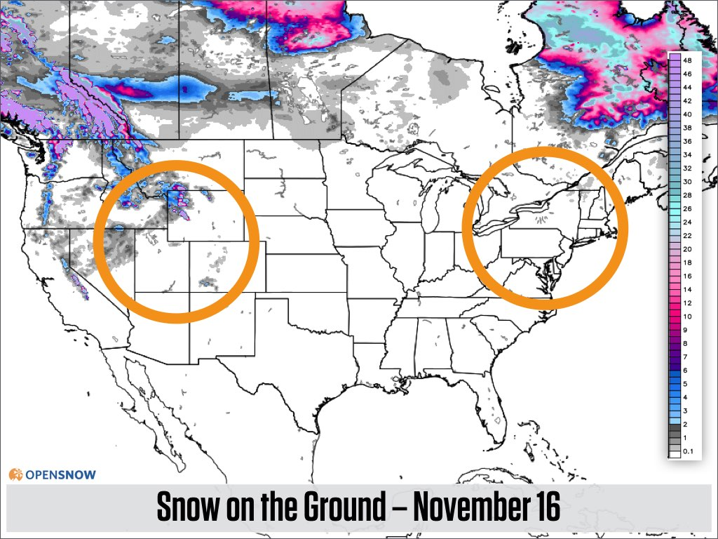 Across The Us And Canada The Map Of Current Snowpack Shows That Most Areas Have Little To No Snow On The Ground Except For Western Canada And Parts Of The