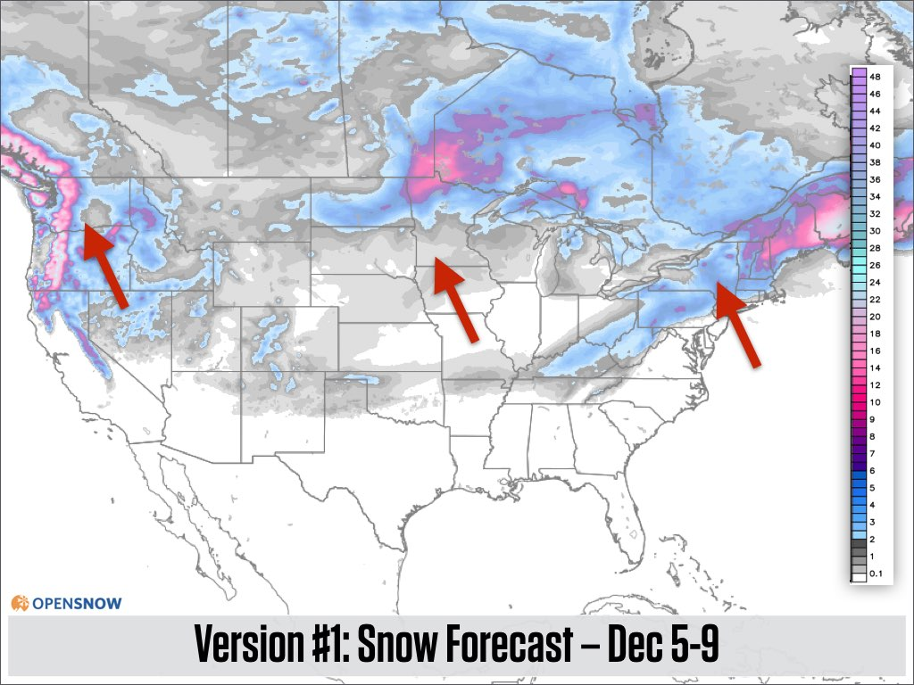 Three Feet Of Snow In The West More In T US And Canada - Us weather map next 5 days