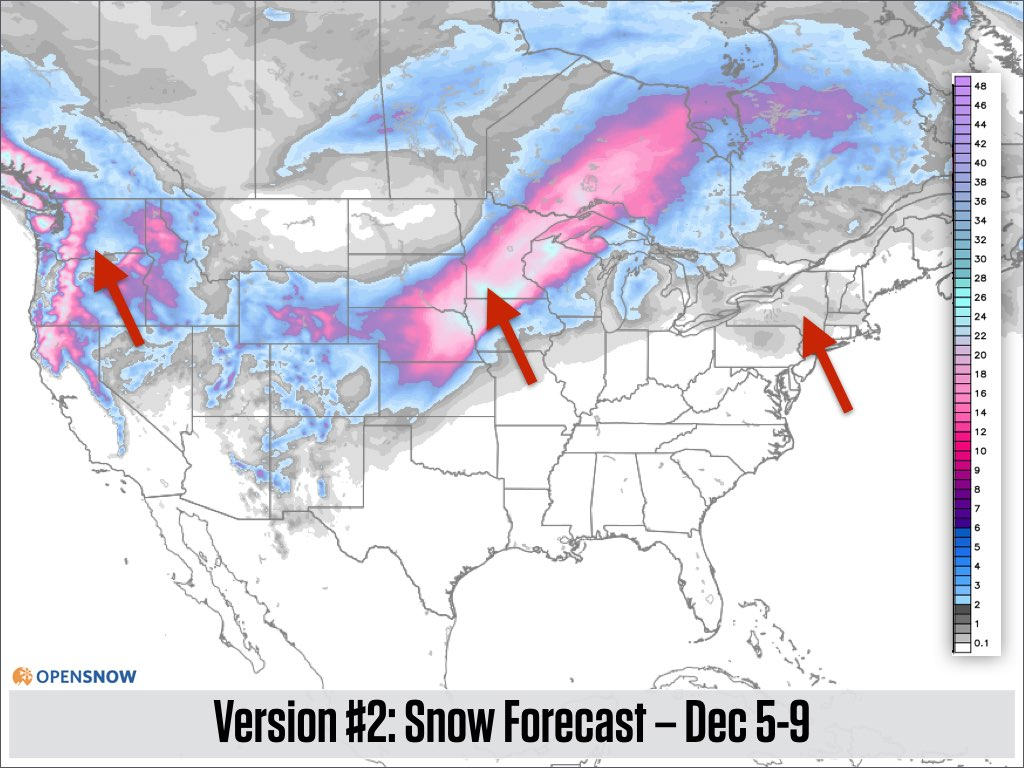 Three Feet Of Snow In The West More In T US And Canada - Us weather map next 24 hours