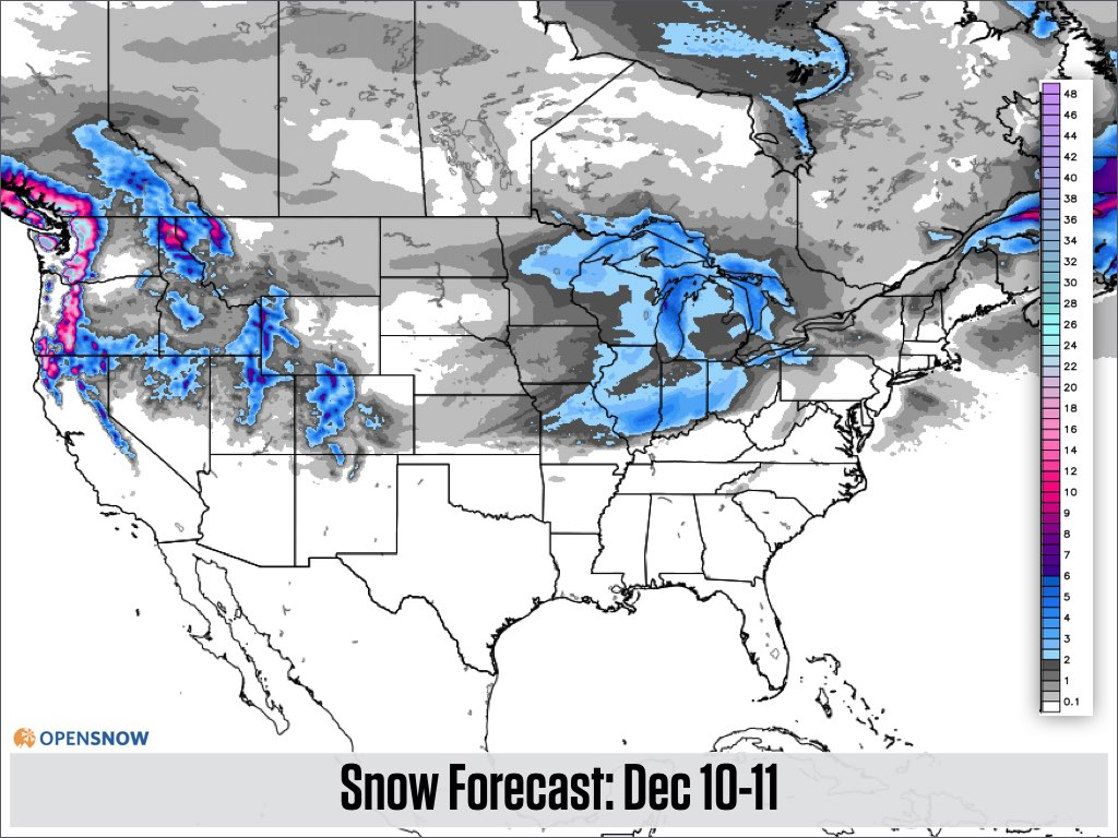 DEEP Powder In The Northwest US And Canada Daily Snow Report - Us weather map next week
