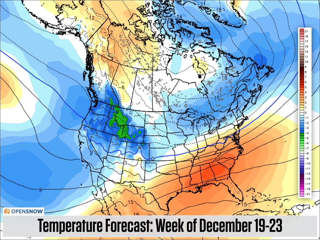 Blower Pow In The Northwest Rockies Stay  US And Canada - Us weather map for december