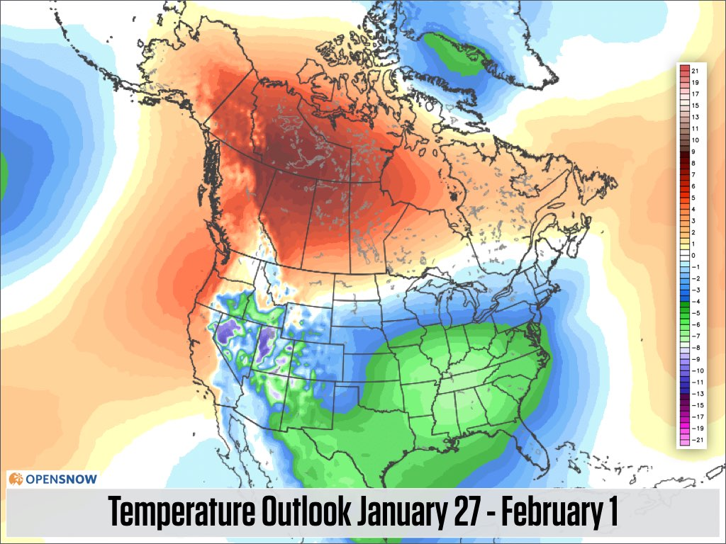 Ten Days Of Snow And Cool Air In The West US And Canada - 10 day weather map of western us