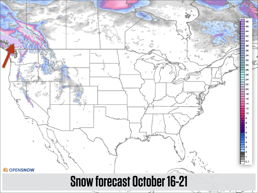 US And Canada Daily Snow Report Snow Forecast OpenSnow - Map of western us and canada