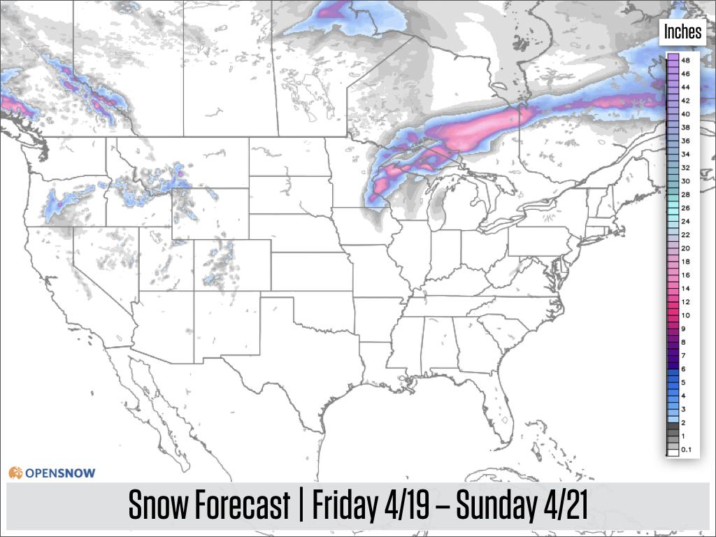 Us And Canada Daily Snow Snow Forecast Ski Report Opensnow - Us-snow-forecast-map