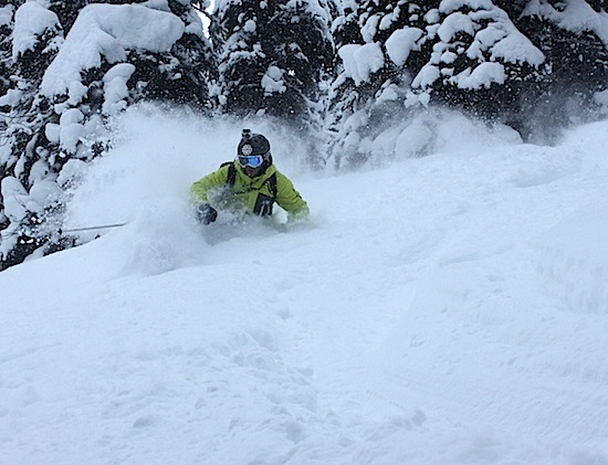Joel Gratz enjoys perfect powder (photo: Jason Weingast).