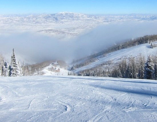 Yes, even powder forecasters love to rip groomers (above the clouds)!