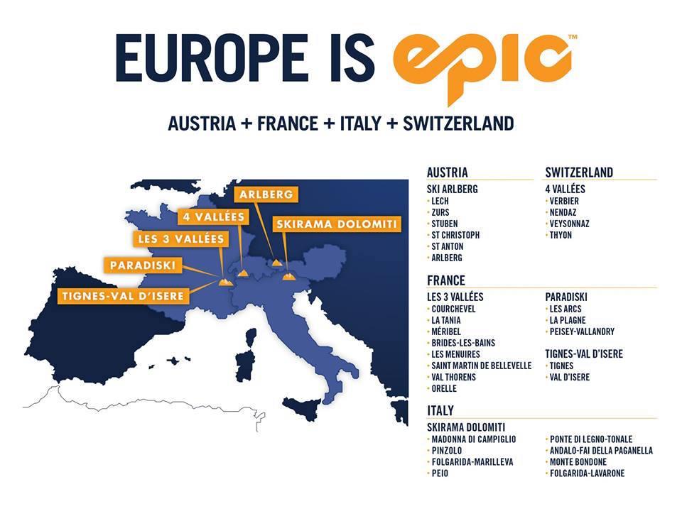 LATEST: Vail Resorts Adds 28 European Ski Resorts to the ... on map zermatt, map cities in switzerland, map ski resorts in france, map hotels in switzerland,