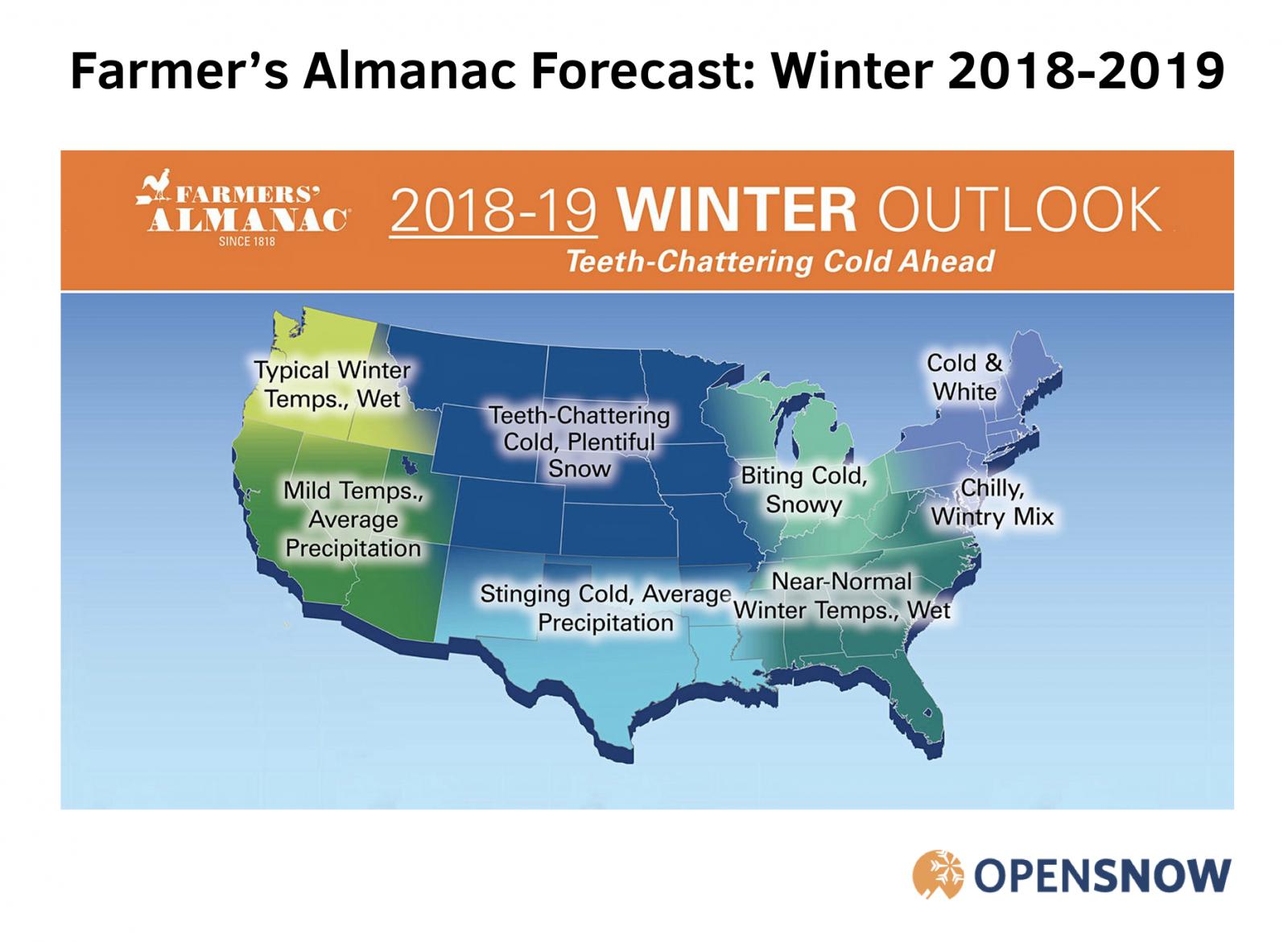 Farmer's Almanac 2018-2019 Winter Forecast | OpenSnow