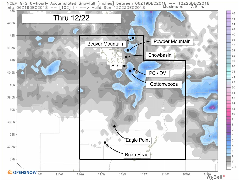 White Christmas Forecast.A White Christmas Utah Daily Snow Snow Forecast
