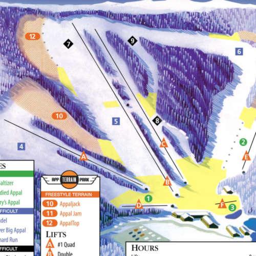 Thumbnail Image Appalachian Ski Mountain - Winter Map