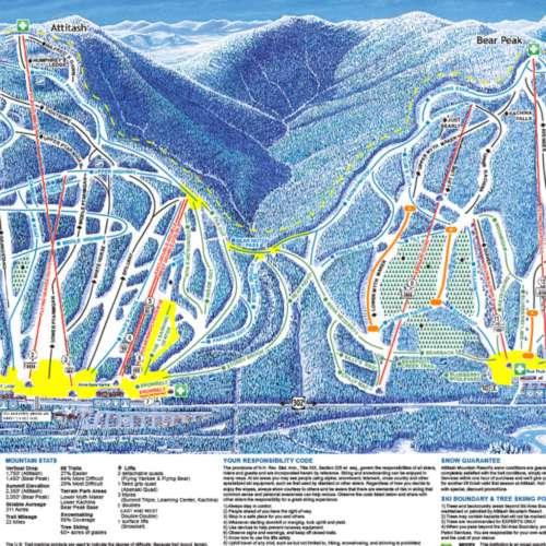 Thumbnail Image Attitash - Winter Map