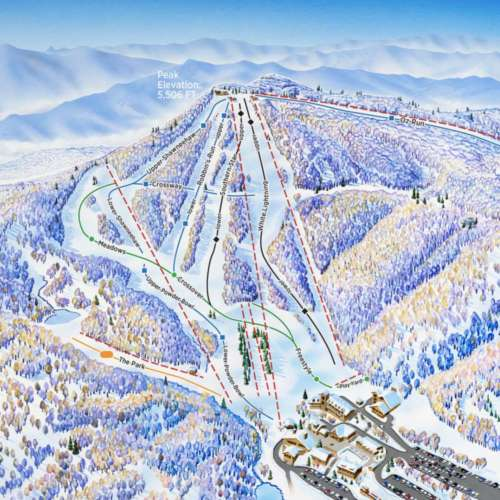 Thumbnail Image Beech Mountain Resort - Winter Map