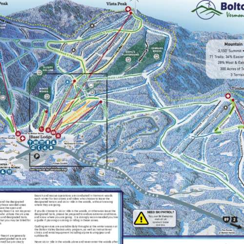 Thumbnail Image Bolton Valley - Winter Map