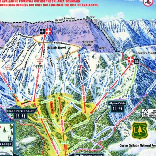 Thumbnail Image Bridger Bowl - Winter Map