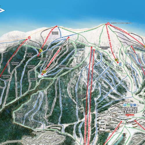 Thumbnail Image Big White Ski Resort - Winter Map
