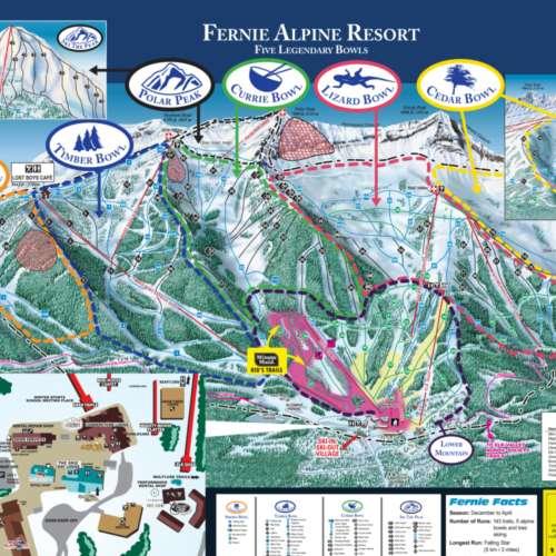 Thumbnail Image Fernie - Winter Map