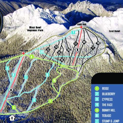 Thumbnail Image Mount Cain Alpine Park - Winter Map