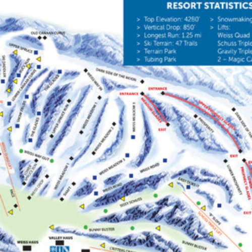 Thumbnail Image Canaan Valley - Winter Map