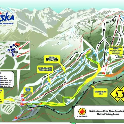 Thumbnail Image Nakiska Ski Area - Winter Map