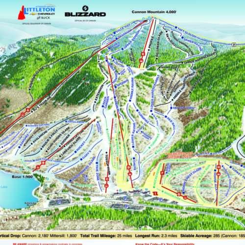 Thumbnail Image Cannon Mountain - Winter Map