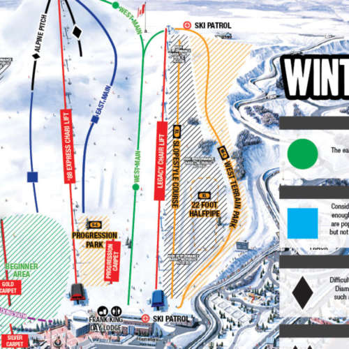 Thumbnail Image Canada Olympic Park - Winter Map