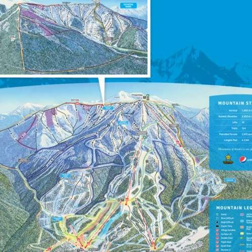 Thumbnail Image Panorama Mountain Resort - Winter Map