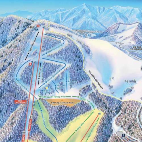Thumbnail Image Cataloochee Ski Area - Winter Map