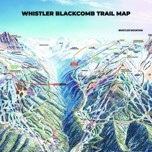 Thumbnail Image Whistler Blackcomb - Winter Map
