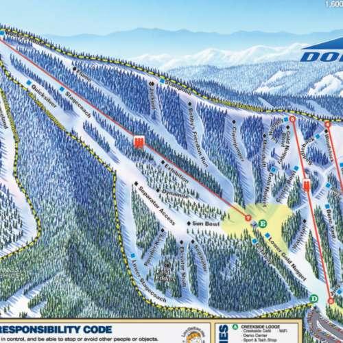 Thumbnail Image Dodge Ridge - Winter Map