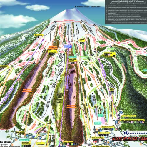 Thumbnail Image Niseko Annupuri - Winter Map