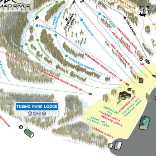 Thumbnail Image Mad River Mountain Resort - Winter Map