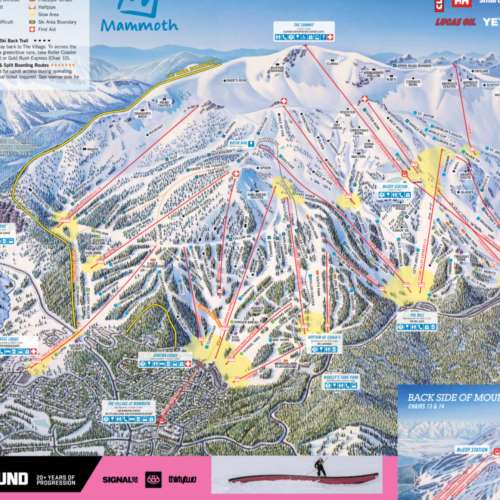 Thumbnail Image Mammoth Mountain - Winter Map