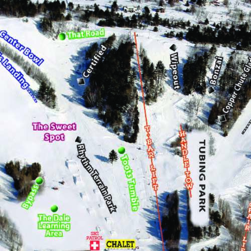 Thumbnail Image Mont Ripley - Winter Map