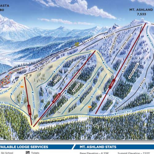 Thumbnail Image Mt Ashland - Winter Map