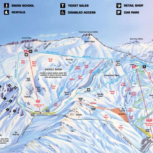 Thumbnail Image Treble Cone - Treble Cone Trail Map