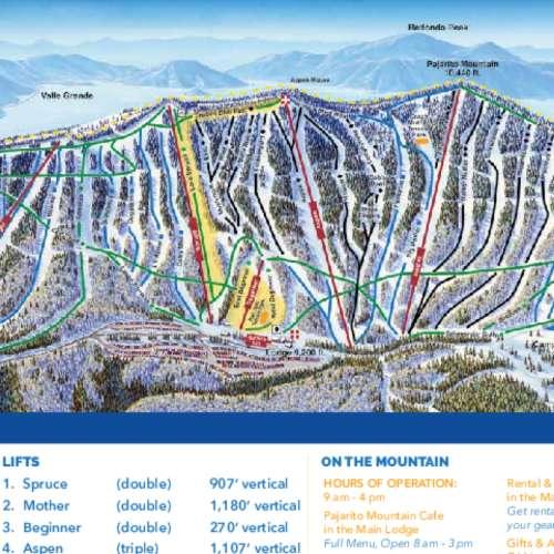 Thumbnail Image Pajarito Mountain - Winter Map