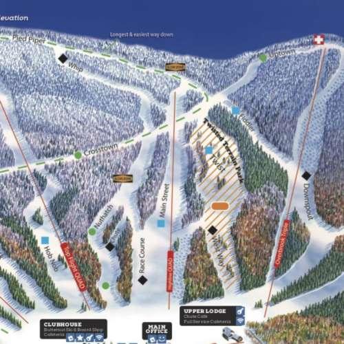 Thumbnail Image Ski Butternut - Winter Map
