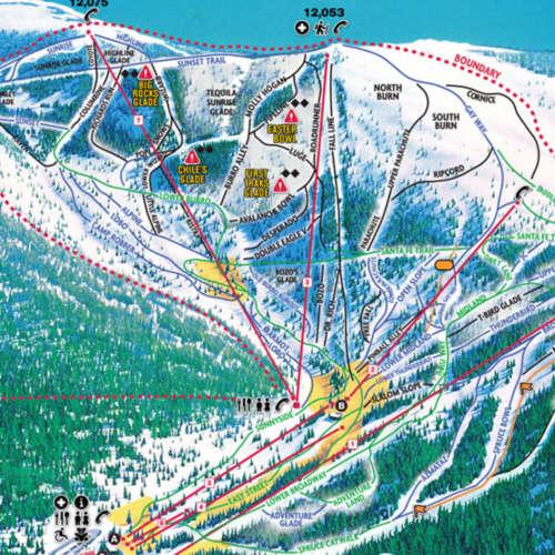 Thumbnail Image Ski Santa Fe - Winter Map