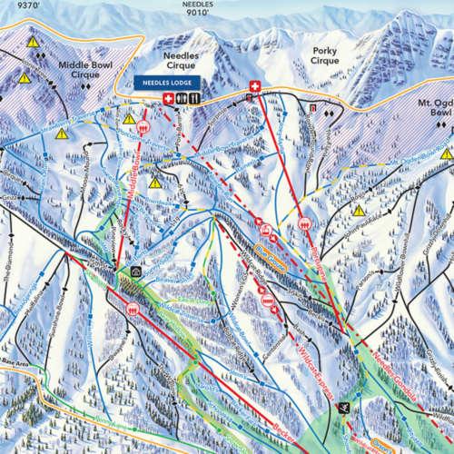 Thumbnail Image Snowbasin - Winter Map