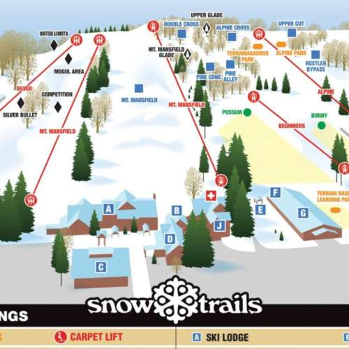 Thumbnail Image Snow Trails - Winter Map