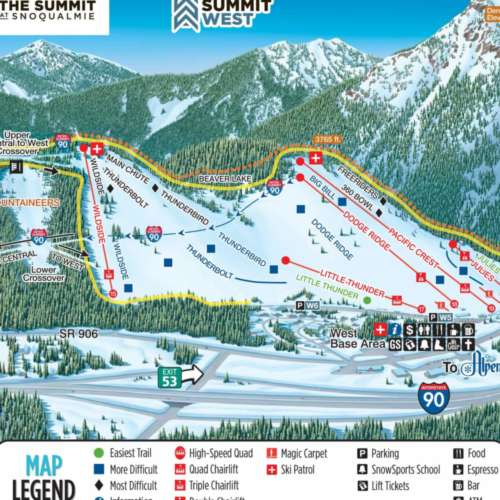 Thumbnail Image Summit at Snoqualmie West - Winter Map